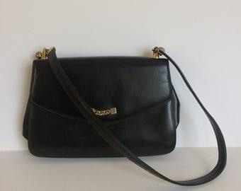 Vintage Koret purse handbag dark brown with gold accents