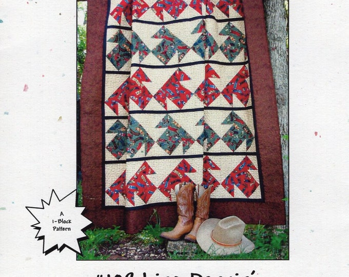 Texas Quiltery Design by Margaret Smith #109 Line Dancin' Dancing Bed Quilt 2002 Free Us Ship Craft Sewing Pattern