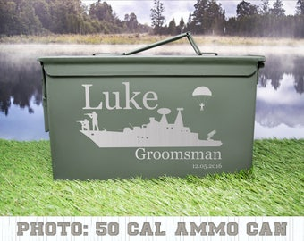 Wedding Ammo Can Personalized for Groom, Best Man, Father-Of-The-Bride, Groomsmen, and Bridesmaids
