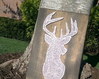 Deer Head String Art