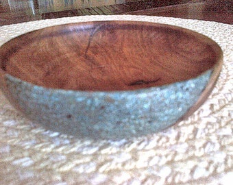 Small Mesquite Bowl #818 With a Splash of Turquoise