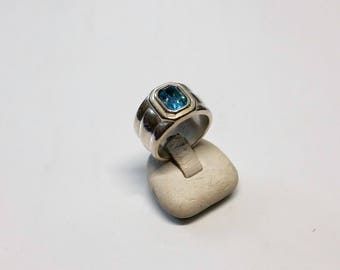 17 mm ring Silver 925 Crystal turquoise SR638