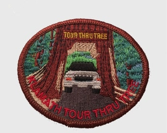 Klamath Tour Thru Tree Patch - Redwood Trees - California (Del Norte County, Iron on)