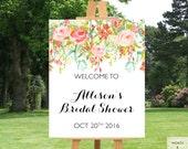 Bridal Shower Decorations, Bridal Shower Banner, Floral Bridal Shower, Wedding Shower Decorations, Wedding Shower Banner, Printable, Digital