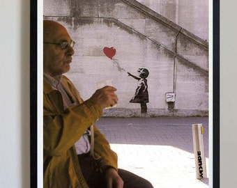 Banksy - Balloon Girl Heart - #23 - banksy art prints, banky posters, decor, pictures, street art