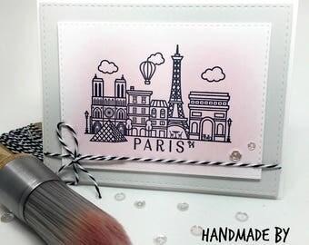Handmade Paris Card - Paris, France