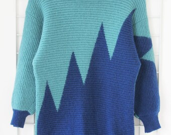 Vintage 80s Knit Wool Jumper Size S
