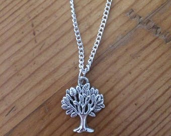 Silver tree necklace, tree necklace, nature, necklace, silver necklace