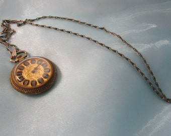 Sheffield Gold Pocket Watch with Gold Chain