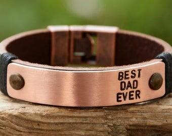 FAST SHIPPING,  Men's Bracelet, Mens Leather Bracelet, Mens Personalized, Leather Mans Bracelet, Personalized Leather, Father Bracelet, Mens