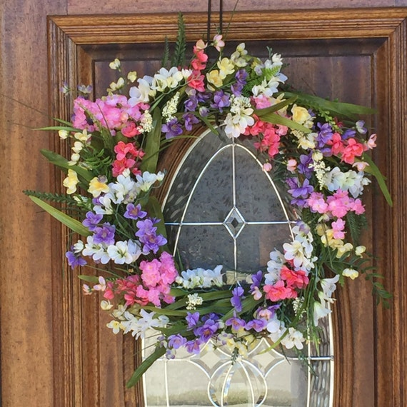 Spring wreaths for front door double door wreaths floral Spring flower arrangements for front door