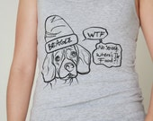 BESGLE T-SHIRT beagles tank top beagle dog owner tee dogs graphic t-shirt wtf what the fuck where is the food funny printed shirt puppy pet