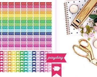 Printable Planner Stickers, Payday Stickers, Piggy Bank Stickers, Money Stickers, Saving Stickers, Happy Planner, Erin Condren Stickers.