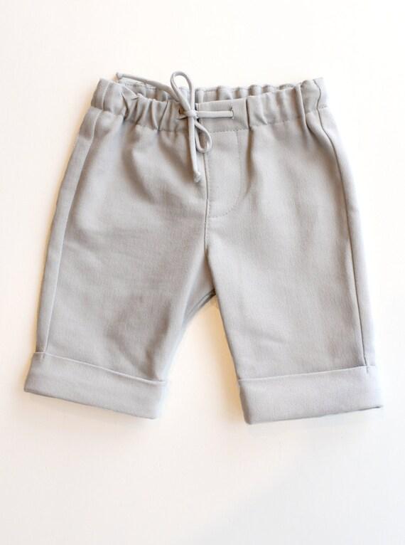 ROULI-ROULANT - bermuda short like jeans - pale grey