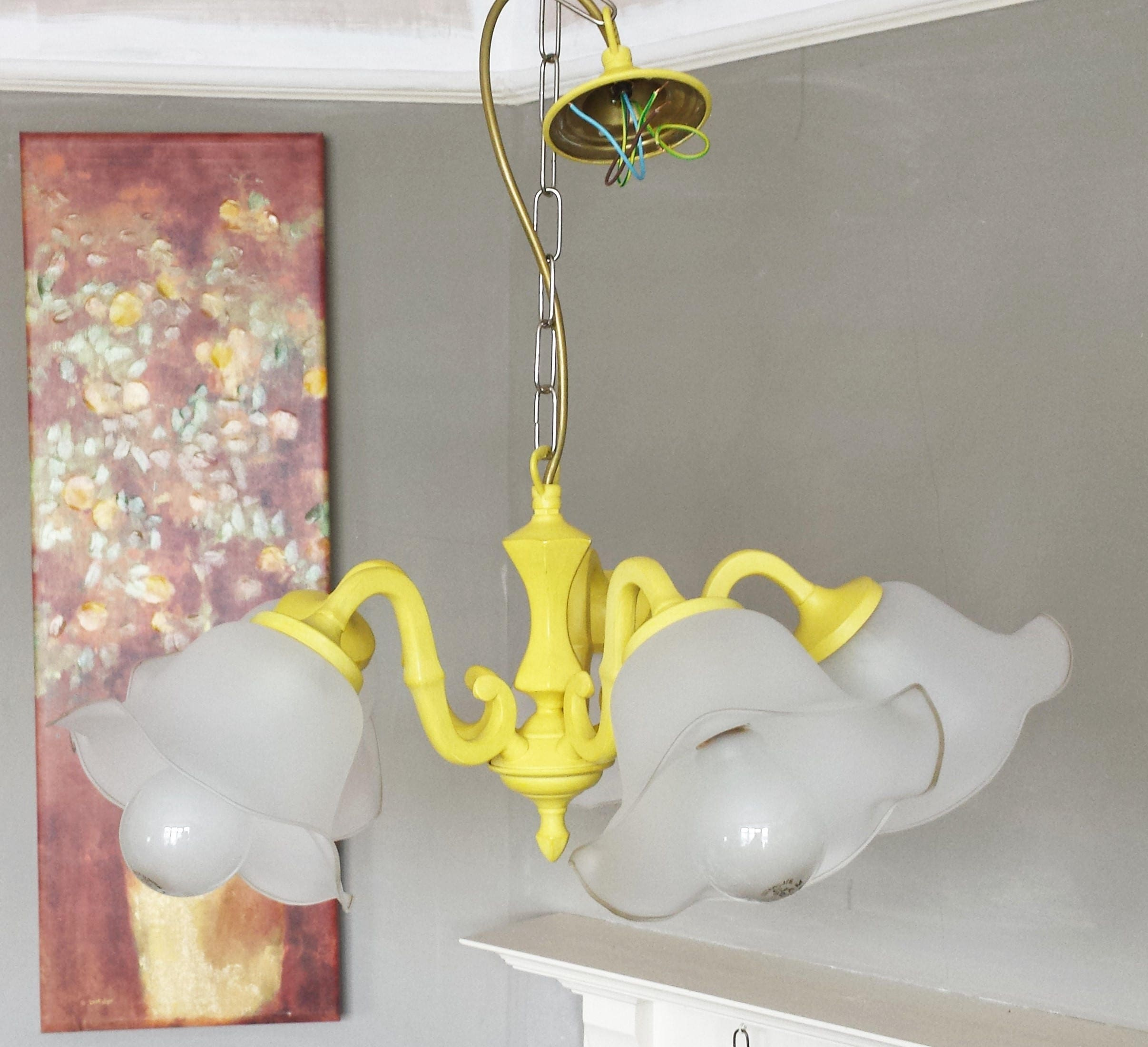 Vintage Lighting Ceiling Light Fixture Upcycled Light Annie