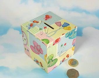 Baby Shower Gift, Baby Bank, New Baby Gift, Personalised Money Box, Nursery Decor, Baby Shower, 1st Birthday Gift, Piggy Bank, New Baby Gift