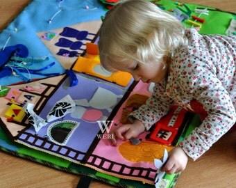 Big Developing Play Mat, Felt Play Mat, Quiet Time Mat, Activity, Montessori