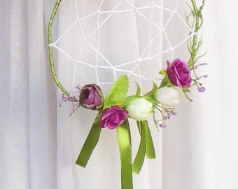 Wedding dreamcatcher wreath or bouquet, Bohemian, Boho style wedding accessories.