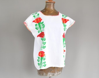 SALE Hand Embroidered Mexican Blouse