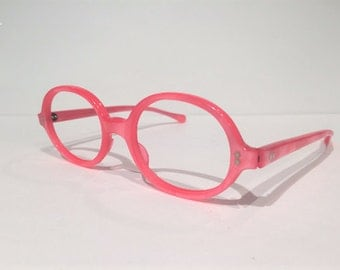 pink round eyeglasses frames new old stock 60s oval pink glasses frames nos vintage pink glasses frames pink mod pop sunglasses frames