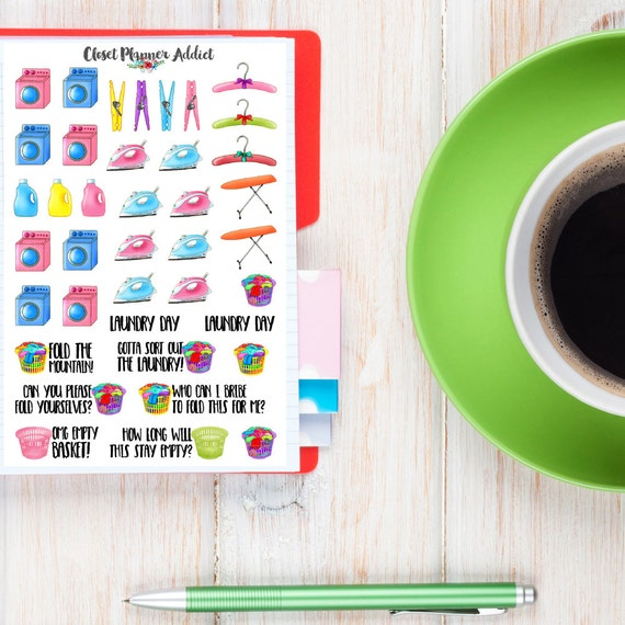 Laundry Planner Stickers Laundry Day Stickers