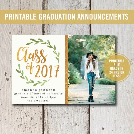 Zany image regarding printable graduation announcements