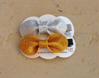 Glitter Ribbon Girls Hair Bows,  Kids Hair Bows - Girls Hair Clip,  Baby Hair Bows, Girls Hair Accessory ,Toddler Hair Clips