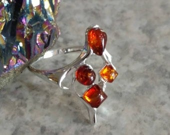 Authentic Baltic Amber Ring Size 7