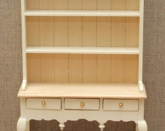 1:12 Scale Dolls House Queen Anne dresser - Choice of 15 colours painted to order