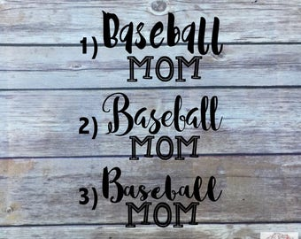 Baseball Mom Decal | Sports Mom | Baseball Decal | 3 Designs | ONE Window Decal | Baseball Mom Car Decal | Sports Mom Decal | Sports Decal