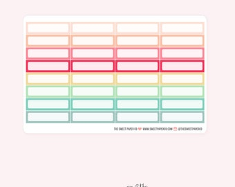 Small Label Box Planner Stickers for Monthly View | DREAM BIG