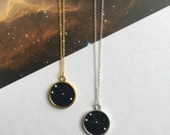 TAURUS NECKLACE. constellation jewellery - taurus constellation necklace - taurus zodiac necklace - taurus star sign necklace - zodiac