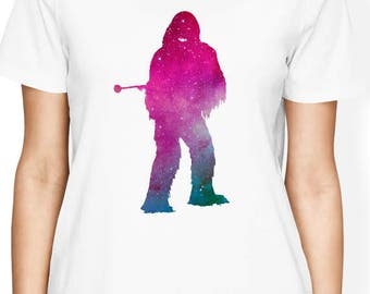 Chewbacca Shirt Star Wars T Shirt Star Wars Women Shirt Chewie TShirt Funny Star Wars Shirt Disney Clothing Chewy T-Shirt Womens Graphic Tee