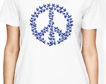 Peace Sign shirt, Peace Bird shirt, Peace Shirt, Peace Sign t shirt, Peace t shirt, Peace Gift, Hippie Shirt, Peace symbol, Gift for Her