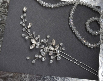 Crystal bridal hair pin wedding headpiece bridal hairpiece