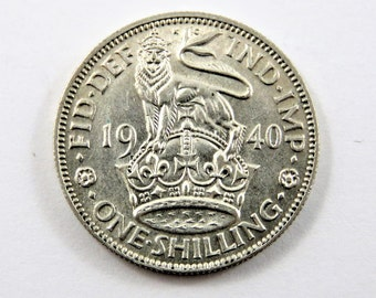 Great Britain 1940 Silver One Shilling Coin.