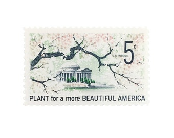 10 Unused Plant for a More Beautiful America 5 Cent US Vintage Postage Stamps No. 1318
