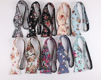 10 Men's Self Tie Bow Tie - Self Tie Bow Tie | Floral Self tie Bow Tie | Bowtie | Wedding bow tie | Flower Tie  | Floral tie | Groom | ideas