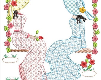 Southern belle machine embroidery download 3 diff sizes (5x5  6x6  7x7 )