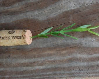 Botanical Wine Cork Magnet Grass on Mark West Wine Cork