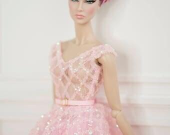 "lady pink dress for fashion royalty , Poppy Parker, Silkstone Barbie, barbie Doll , , 12"" fashion doll"