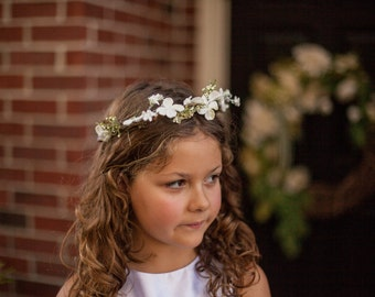 First Communion Floral Headband (Veil Sold Separately)