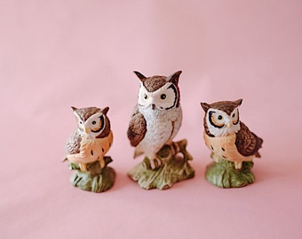 Owl #10   Set of 3 Owls   Vintage   Ceramic   The Owl Collection