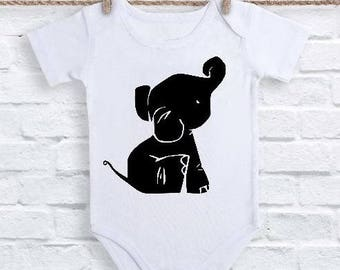Elephant One Piece, Elephant Bodysuit, Elephant Romper, Elephant Baby T-Shirt,  Elephant shirt, Baby Elephant Gift, Baby Elephant creeper