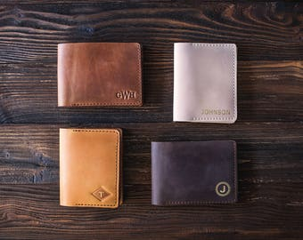 Groomsmen gift, Leather wallet, mens wallet personalized, mens leather wallet, gift for men
