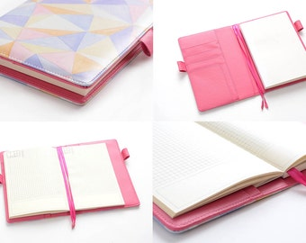 Hobonichi Planner, A5, PU Leather Cover, Keeper, Paper Insert Included - FREE Domestic SHIPPING