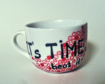 BEAT IT mug statement mug coffee mug custom mug inspirational mug mug cozy gift hand drawn painted christmas gift birthday gift mug lover