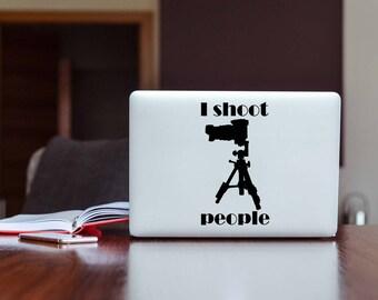I Shoot People Camera Tripod Photographer Car Mug Laptop Decal
