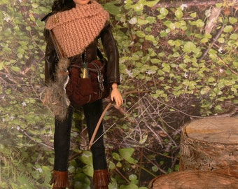 Jennifer Lawrence HUNGER GAMES Katniss Everdeen the Huntress CUSTOM Doll Catching Fire