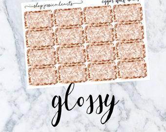 Copper Glitter Half Boxes (GLOSSY)